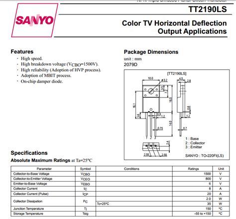 transistor horizontal transistor horizontal tt2190 28 images p 225 resultados b 250 squeda quot transistor de