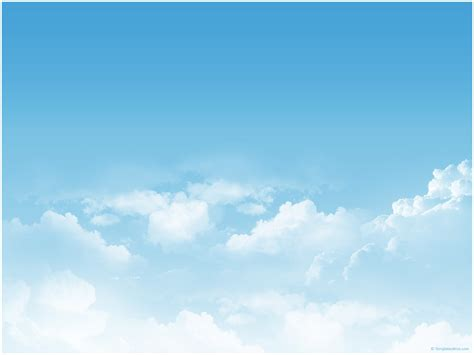 Sky Clouds Ppt Template 171 Ppt Backgrounds Templates Cloud Powerpoint Template