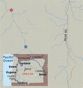 map for collawash river oregon white water elk lake