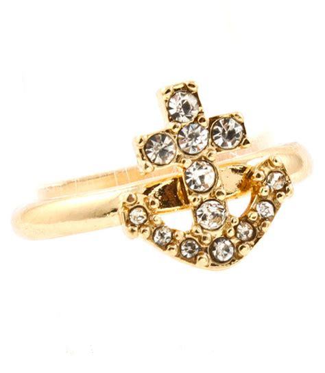 jewels anchor ring gold ring wheretoget
