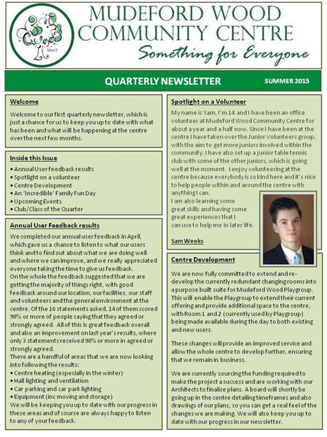 quarterly newsletter mudefordwoodcommunitycentre co