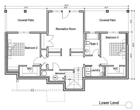 daylight basement floor plans 2 bedroom house plans with walkout basement inspirational
