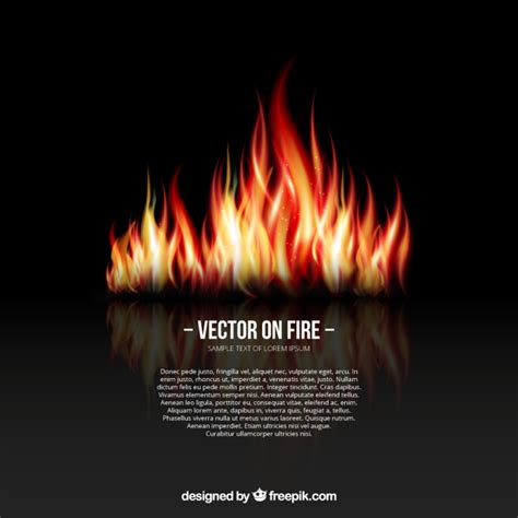 background with flames vector free
