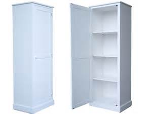 100 solid wood 180cm tall white painted 1 door extra deep storage