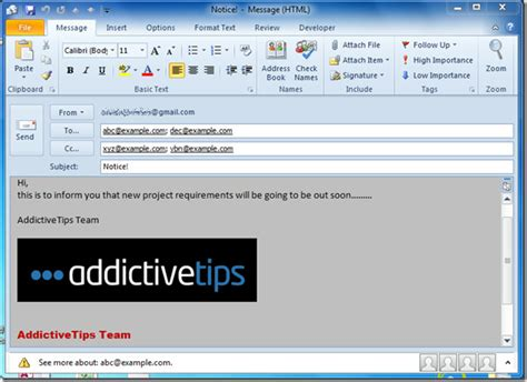 Create Use Email Templates In Outlook 2010 Microsoft Outlook Email Template