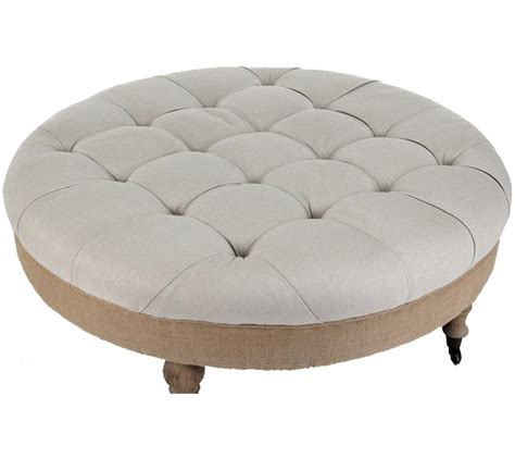 cloth ottoman coffee table beautiful round fabric ottoman coffee table