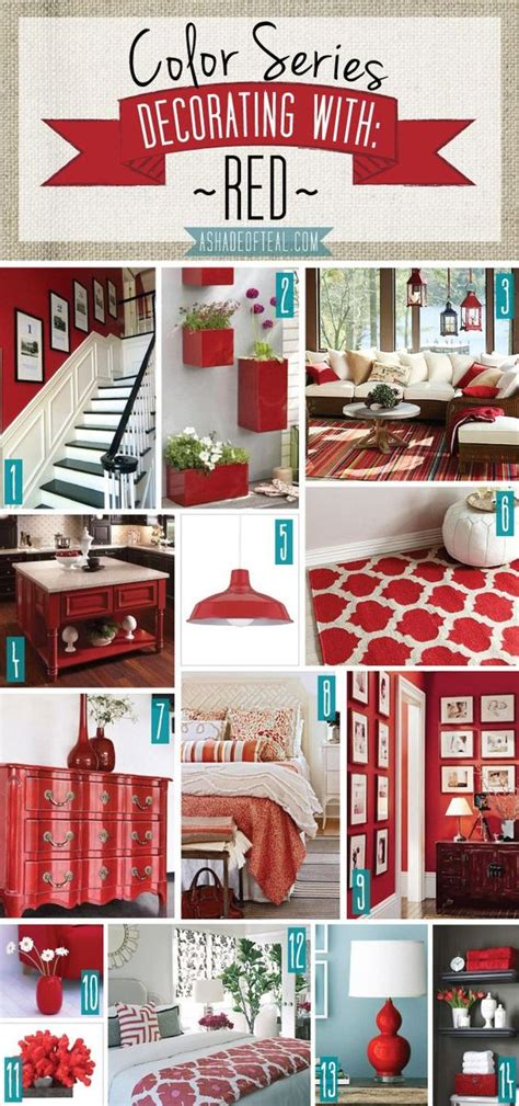 red home decor color series decorating with red red home decor a
