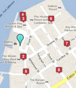 map of key west florida hotels hotels near key west aquarium key west fl