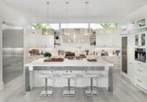 beautiful Kitchen Cabinets Color Combination #2: unique-grey-hardwood-floor-ideas-contemporary-kitchen-design-white-cabinets-white-kitchen-island.jpg