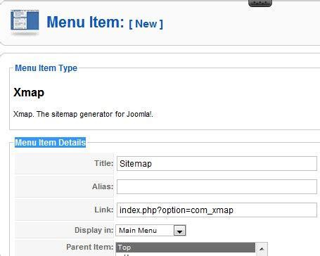 tutorial membuat online shop dengan joomla membuat menu sitemap xmap joomla