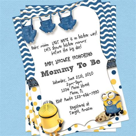 25 Best Ideas About Minion Baby Shower On Pinterest Minion Cup Minion Party Theme And Minion Minion Baby Shower Invitation Template