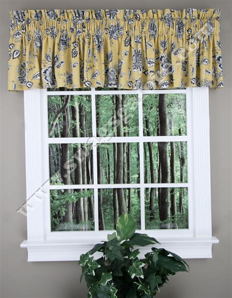 Kitchen Curtain Valance Jeanette Tailored Valance Yellow Valance By Ellis Curtain Kitchen Valances