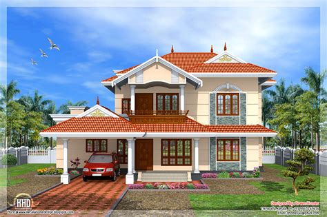 Kerala Style 4 Bedroom Home Design Kerala Home Design And Floor Plans