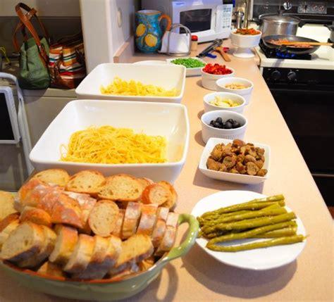 pasta bar food bar pasta bar parties holidays pinterest