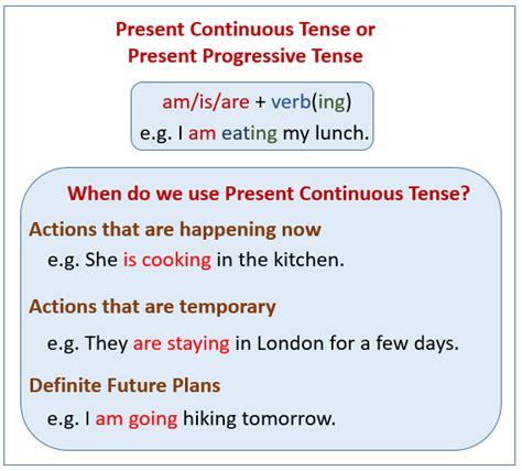 Write The Pattern Of Present Continuous Tense   present continuous tense exles explanations videos