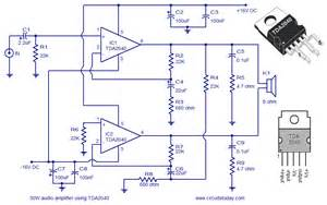 audio lifier circuit using tda2040 todays circuits engineering projects