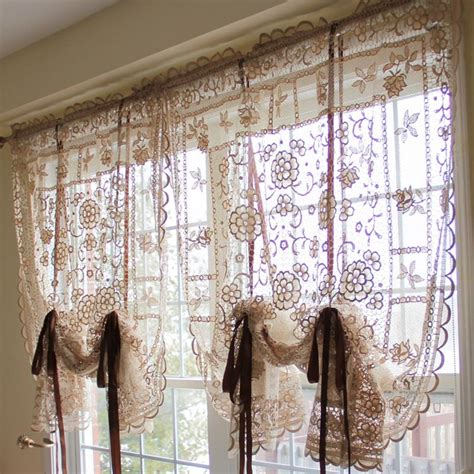 baloon curtains lace curtain
