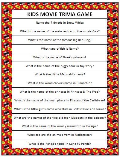 kids movie trivia free printable moms amp munchkins