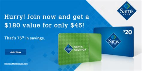 Sams Renewal Gift Card - join sams club membership only 45 receive 20 gift card