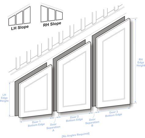 Angled Cabinet Doors - doors to size angled door guide