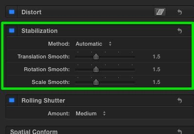 Final Cut Pro Stabilization | final cut pro x 10 2 stabilization