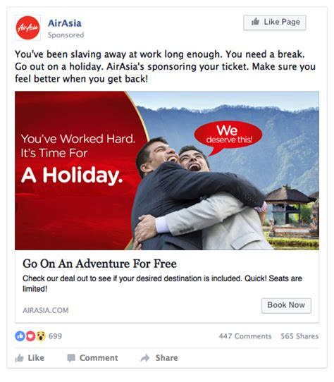 airasia holidays airasia can definitely create better performing facebook