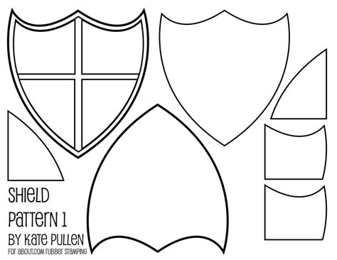free shield template five free shield templates for cards and scrapbook pages