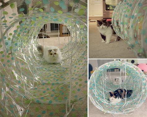 Curtain T Diy Cat Tunnel Hauspanther