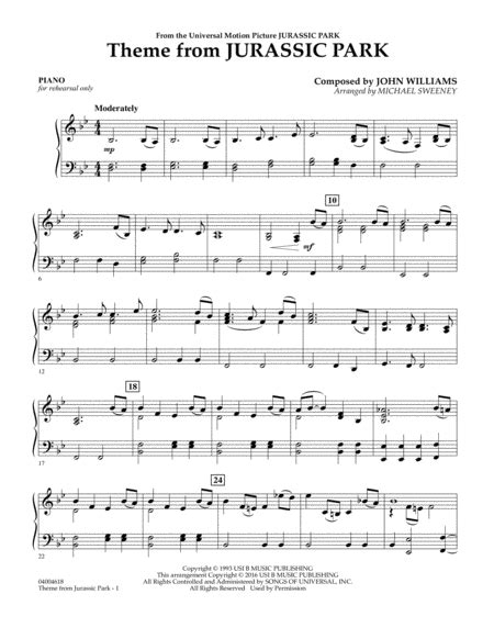 theme songs jurassic park download theme from jurassic park piano sheet music by