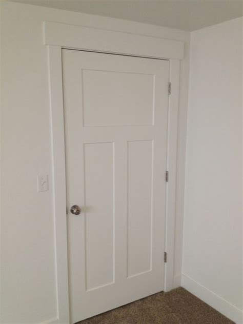 3 Panel Interior Door Primed White Interior 3 Panel Craftsman Shaker Style Interior Door In 1015 Ksr Door And Mill