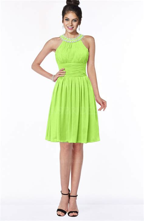 Liana Dress Green colsbm liana bright green bridesmaid dresses