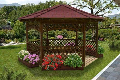 gazebo esagonale in legno gazebo in legno hexagonal con falda copertura tegola