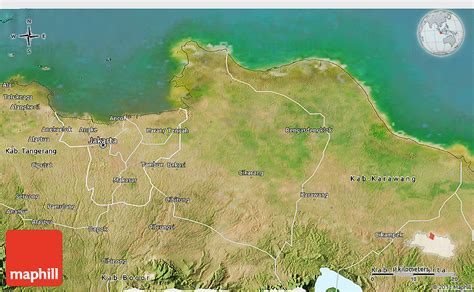 satellite  map  kab bekasi