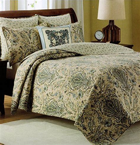 Medallion Ivory 100 Cotton Quilt by Cynthia Rowley Bedspread 3pcs Cotton Quilt Set