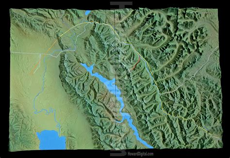 relief map relief maps montana crash site relief map howard models