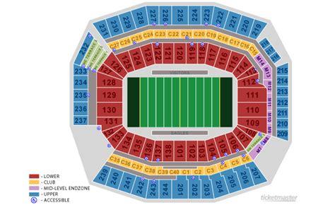 eagles stadium seating diagram diagrams auto parts