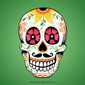 colorful sugar skull colorful sugar skull vector premium