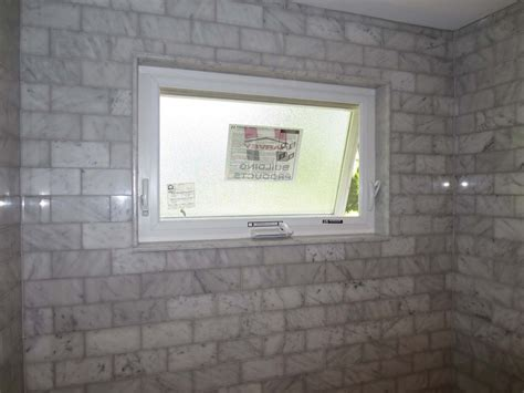 installing a bathroom window marble subway tile tub shower area with a window youtube