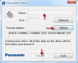 best free software to format sd card to exfat on windows format memory card with panasonic sd format tool flash