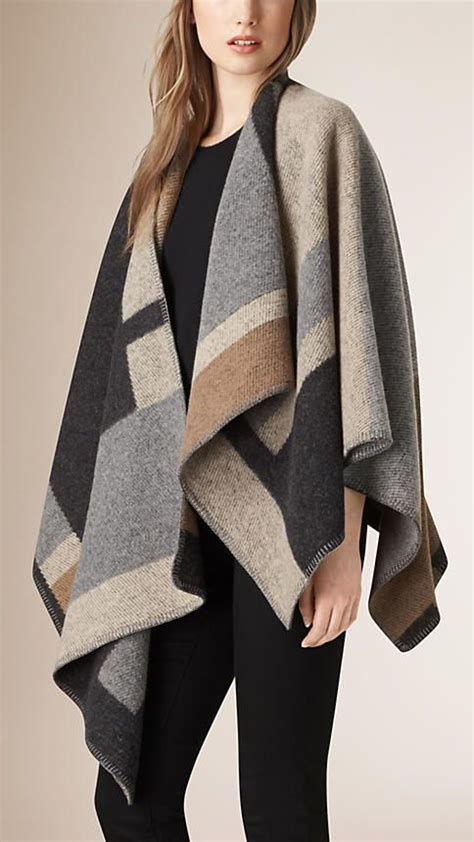 7 Beautiful Ponchos by Ponchos Wraps For Burberry Beautiful Wool And