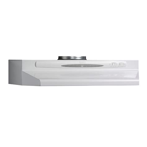 30 inch under cabinet range hood 30 inch 220 cfm under cabinet range hood in white
