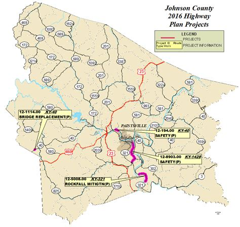 kentucky map johnson county johnson county