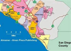 where is orange county california on map south orange county