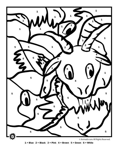 printable animal numbers hard color by number printables az coloring pages