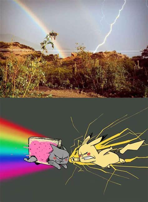 Thunder Rainbow the rainbow and lightning strikes the meta