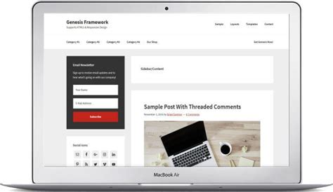 Create Your Wordpress Site With The Genesis Framework Download Here Genesis Framework Templates