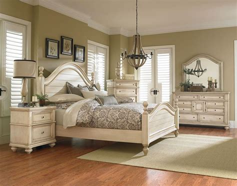 master bedroom sets king standard furniture chateau poster bedroom set in in bisque