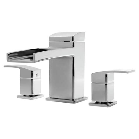bathtub waterfall faucet pfister kenzo 2 handle deck mount waterfall roman tub