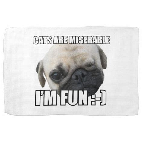 Miserable Cat Meme - cats are miserable i m fun meme hand towels zazzle
