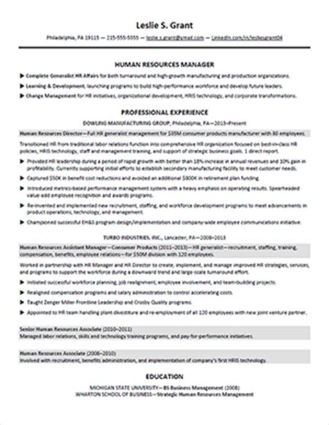 description template shrm resume sle